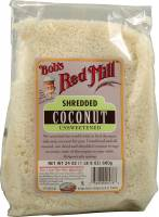 Bob's Red Mill Unsweetened Shredded Coconut 12 oz (4 Pack)