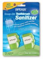 Health & Beauty - Accessories - Dr Tung's Products - Dr Tung's Products Adult Snap-On Toothbrush Sanitizer 2 ct