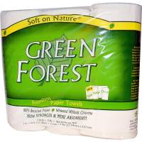 Home Products - Paper Products - Green Forest - Green Forest Paper Towels, 2 Ply, 3 Rolls (10 Pack)