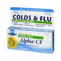 Homeopathy - Colds & Flus - Boericke & Tafel - Boericke & Tafel Alpha CF Colds & Flu 40 tab
