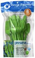 Utensils - Forks - Preserve - Preserve Everyday Cutlery Green Apple 24 pc