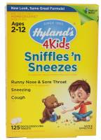 Hylands - Hylands 4 Kids Sniffles'n Sneezes 125 tab