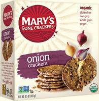 Grocery - Crackers - MARY`S GONE CRACKERS - Mary's Gone Crackers Onion 6.5 oz (12 Pack)
