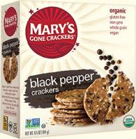 Grocery - Crackers - MARY`S GONE CRACKERS - Mary's Gone Crackers Black Pepper 6.5 oz (12 Pack)
