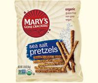 Grocery - Crackers - MARY`S GONE CRACKERS - Mary's Gone Crackers Sea Salt Pretzels 1.25 oz (25 Pack)