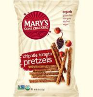 Grocery - Crackers - MARY`S GONE CRACKERS - Mary's Gone Crackers Tomato Chipotle Pretzels 7.5 oz (12 Pack)