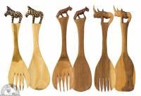 Utensils - Wood Utensils - Down To Earth - Pairs of Wooden Salad Servers