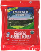 Grocery - Macrobiotic - Emerald Cove - Emerald Cove Pacific Sushi Nori 50 Sheets (4 Pack)