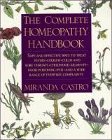 Books - Homeopathy - Books - The Complete Homeopathy Handbook - Miranda Castro