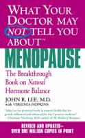Books - Personal Development - Books - What Your Doctor May Not Tell You About 'Menopause: The Breakthrough Book' - John R. Lee