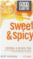 Kitchen - Tea - Good Earth Teas - Good Earth Teas Herbal & Black Tea Sweet & Spicy 18 Bag