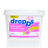 Baby - Laundry - Dropps - Dropps Baby Scent Booster Pacs In-Wash Softener + Enhancer Petal 50 ct