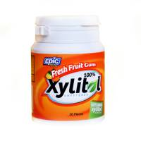 Health & Beauty - Dental Care - Epic - Epic Xylitol Chewing Gum - Fresh Fruit 50 pc