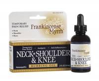 Homeopathy - Pain Relief - Frankincense & Myrrh - Frankincense & Myrrh Neck Shoulder & Knee Rubbing Oil 2 oz