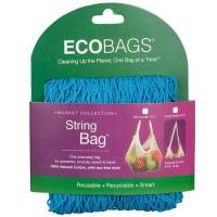 Home Products - Bags, Pouches & Boxes - Eco-Bags Products - Eco-Bags Products String Bag Long Handle Natural Cotton Caribbean Blue