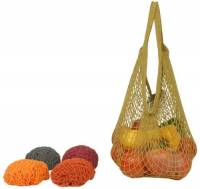 Home Products - Bags, Pouches & Boxes - Eco-Bags Products - Eco-Bags Products String Bag Long Handle Natural Cotton Set-Assorted Earth Tone
