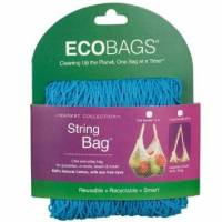 Recycled & Biodegradable - Biodegradable Bags - Eco-Bags Products - Eco-Bags Products String Bag Tote Handle Natural Cotton Caribbean Blue