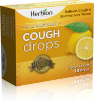 Health & Beauty - Cough Syrup & Lozenges - Herbion - Herbion Cough Drops Honey Lemon 18 lozenge