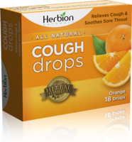 Health & Beauty - Cough Syrup & Lozenges - Herbion - Herbion Cough Drops Orange 18 lozenge