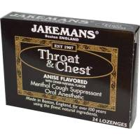 Health & Beauty - Cough Syrup & Lozenges - Jakemans - Jakemans Throat Lozenges Menthol Box 24 ct - Anise Licorice
