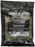 Health & Beauty - Cough Syrup & Lozenges - Jakemans - Jakemans Throat Lozenges Menthol Bag 30 ct - Anise Licorice