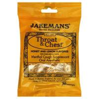 Health & Beauty - Cough Syrup & Lozenges - Jakemans - Jakemans Throat Lozenges Menthol Bag 30 ct - Honey Lemon