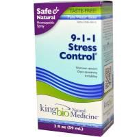 Homeopathy - Nerves & Stress - King Bio - King Bio 9-1-1 Stress Control 2 oz