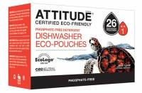 Home Products - Cleaning Supplies - Attitude - Attitude Dishwasher Detergent Eco Pouches 26 pouch