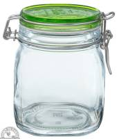 Jars - Canning Jars - Down To Earth - Fido Jar .75 Liter with Green Top