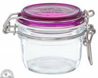 Jars - Canning Jars - Down To Earth - Fido Jar with Fuchsia Top 4.25 oz