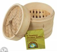 "Kitchen - Bakeware & Cookware - BIH Collection - BIH Collection Bamboo Steamer Basket 6"""